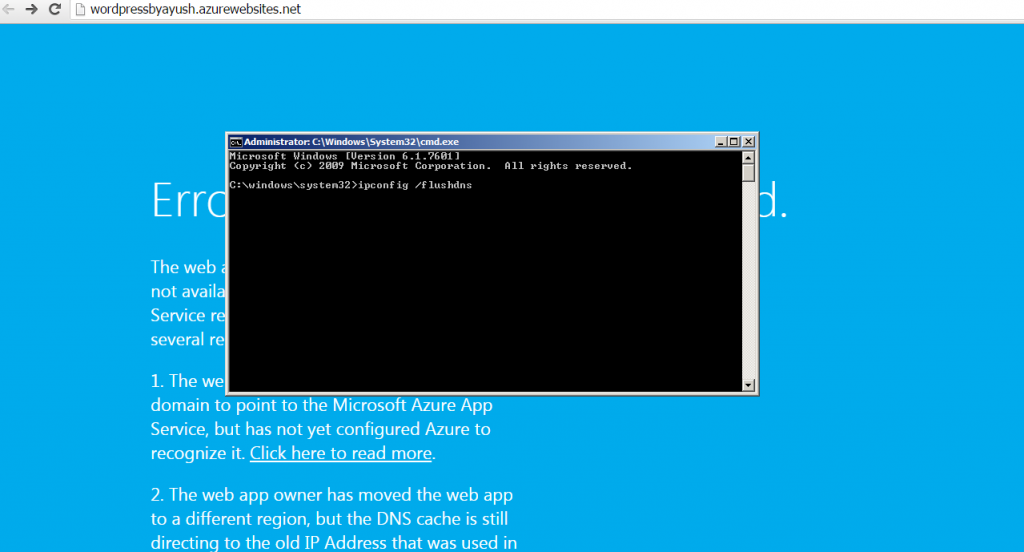 Error 404 : Web App Not Found – Azure Web App | Ayush Rathi