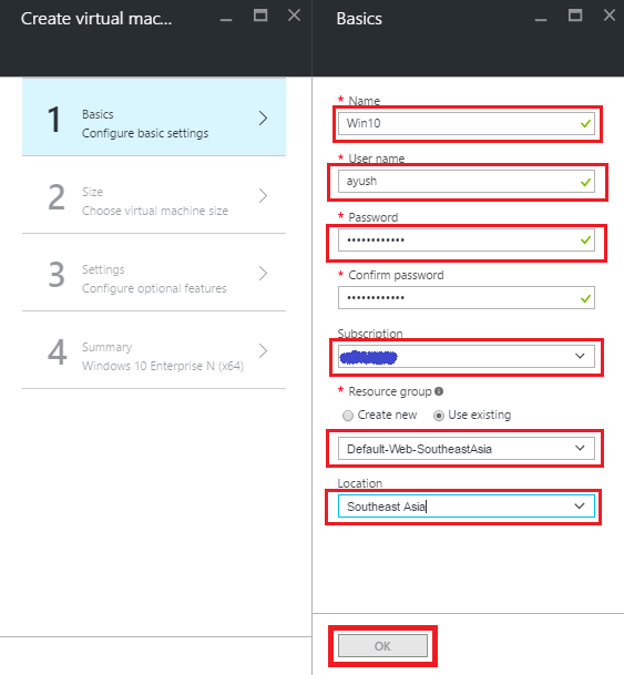 Creating A Win 10 Virtual Machine – Azure Portal   Ayush